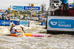 Funk Ricarda (GER) competes in Finals during Day 3 of 2018 ECA Kayak - Canoe Slalom European Championships, on June 3rd, 2018 in Troja , Prague, Czech Republic. Photo by Grega Valancic / Sportida