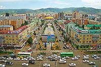 Mongolie, Oulan Bator, Peace avenue et le cirque // Mongolia, Ulan Bator, Peace avenue and the Circus