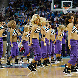 January 19, 2011; New Orleans, LA, USA; New Orleans Hornets Honeybees dancers perform during the fourth quarter of a game against the Memphis Grizzlies at the New Orleans Arena. The Hornets defeated the Grizzlies 130-102 in overtime.  Mandatory Credit: Derick E. Hingle