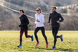 Reebok Boston Track Club<br /> home base training<br /> Flanagan, Norris, Andrews