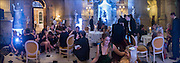 KAT BLACK;, ( foreground ) Ball at to celebrateBlanche Howard's 21st and  George Howard's 30th  birthday. Dress code: Black Tie with a touch of Surrealism. Castle Howard. Yorkshire. 14 November 2015