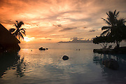 Moorea from Beachcomber Resort, Papeete, French Polynesia<br />