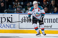 KELOWNA, CANADA - JANUARY 22: Damon Severson #7 of the Kelowna Rockets skates against the Everett Silvertips on January 22, 2014 at Prospera Place in Kelowna, British Columbia, Canada.   (Photo by Marissa Baecker/Getty Images)  *** Local Caption *** Damon Severson;