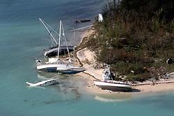 September 14, 2017 - Duck Key, Florida, U.S. - Damaged boats in Key West after Hurricane Irma hit the Florida Keys.  (Credit Image: © Sun-Sentinel via ZUMA Wire)