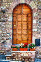 """Beautiful flowers by the front door in Assisi""…<br />