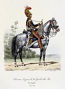 Trumpeter of the Household Cavalry, 1814-1815.  From 'Histoire de la maison militaire du Roi de 1814 a 1830' by Eugene Titeux, Paris, 1890.