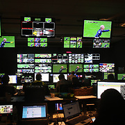 Production control room 3 at the NBC Sports Network studios in Stamford, Connecticut, during Saturday morning live broadcasts of English Premier League games. Stamford,  Connecticut, USA. 21st September 2013. Photo Tim Clayton