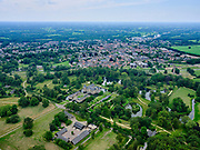 Nederland, Overijssel, Gemeente Hof van Twente; 21–06-2020; Landgoed en Kasteel Twickel, historische buitenplaats, rijksmonument. Stad Delden in de achtergrond.<br /> Estate and Castle Twickel, historic country estate, national heritage.<br /> luchtfoto (toeslag op standaard tarieven);<br /> aerial photo (additional fee required)<br /> copyright © 2020 foto/photo Siebe Swart