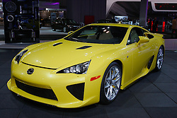 08 February 2012:  2012 LEXUS LFA: Due to its exclusivity – only 20 models hand-assembled each month – you may not see a Lexus LFA super car coming down the street, but you can get close to one at the 2012 Chicago Auto Show. The LFA is the flagship for the F portfolio of Lexus performance models, and the fastest Lexus production car ever built. Lightweight, powerful and balanced, the LFA uses carbon fiber reinforced plastic construction for its chassis and bodywork. With rear-wheel drive, the LFA comes equipped with a high-revving 4.8-liter V10 that creates 553 horsepower and 354 lb. ft. of torque. The sophisticated engine is hooked up to a unique six-speed Automated Sequential Gearbox with paddle shifters for ultimate drive control. The LFA accelerates from 0 to 60 in 3.6 seconds and achieves a maximum speed of 202 mph thanks to an independently controlled throttle body for each cylinder, high-volume 12-hole injectors, dual variable valve timing with intelligence, low-friction engine components and equal length exhaust manifolds. Customers will be able to customize the LFA with 30 exterior colors, six brake caliper colors, and 12 interior colors. Chicago Auto Show, Chicago Automobile Trade Association (CATA), McCormick Place, Chicago Illinois