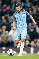 Manchester City's Nolito (9) during the Champions League match between Manchester City and Celtic at the Etihad Stadium, Manchester, England on 6 December 2016. Photo by Craig Galloway.