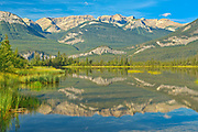 Jasper Lake reflection<br />