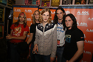 Nick Perri, Kevin Frank, Walt Lafty, Mark Melchiorre Jr., and Brian Weaver of Silvertide performs at the Electric Factory August 21, 2004 in Philadelphia, Pennsylvania. (Photo by William Thomas Cain/Getty Images)