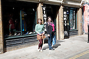 Model Released. Vintage clothes shop Brick Lane