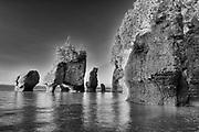 Hopewell Rocks as tide recedes (Flowerpots)