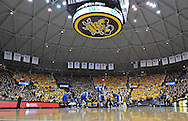 WICHITA, KS - JANUARY 18:  A general view of Charles Koch Arena during a game between the Wichita State Shockers and the Indiana State Sycamores on January 18, 2014 in Wichita, Kansas.  (Photo by Peter G. Aiken/Getty Images) *** Local Caption ***