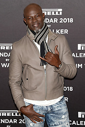 Actor Djimon Hounsou attends the photocell for The Pirelli 2018 Calendar by Tim Walker Launch Press Conference at the Pierre Hotel in New York, NY, on November 10, 2017. (Photo by Anthony Behar/Sipa USA)