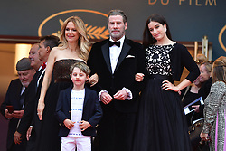 File photo - Kelly Preston, Benjamin Travolta, John Travolta, Ella Bleu Travolta attending the Solo: A Star Wars Story screening held at the Palais des Festivals on May 15, 2018 in Cannes, France as part of the 71st annual Cannes Film Festival. Kelly Preston, the actress married to John Travolta, has died after a private battle with breast cancer, aged 57. The actress had been battling against breast cancer for two years, with a family representative confirming news of her passing to People today. Photo by Lionel Hahn/ABACAPRESS.COM