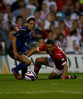 Photo: Steve Bond/Richard Lane Photography. Nottingham Forest v Sunderland. Pre Season Friendy. 29/07/2008. Michael Chopra (L) turns Ian Breckin (R) in the box
