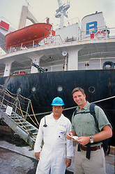 J. Nichols With 2nd Mate From Ship Who Gave Us His Ships GPS Coordinates