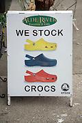 We Stock Crocs sign