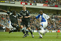 Photo: Aidan Ellis.<br /> Blackburn Rovers v Manchester City. The FA Cup. 11/03/2007.<br /> Rovers Aaron Mokoena scores the first goal