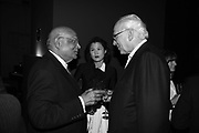 LORD PAUL, PHYLLIS WANG AND LORD EVELYN DE ROTHSCHILD, Dinner given by Established and Sons to celebrate Elevating Design.  P3 Space. University of Westminster, 35 Marylebone Rd. London NW1. -DO NOT ARCHIVE-© Copyright Photograph by Dafydd Jones. 248 Clapham Rd. London SW9 0PZ. Tel 0207 820 0771. www.dafjones.com.