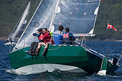 Sailing - SCOTLAND  - 28th May 2018<br /> <br /> Final days racing the Scottish Series 2018, organised by the  Clyde Cruising Club, with racing on Loch Fyne from 25th-28th May 2018<br /> <br /> GBR6305C, Lady Ex, Ben Shelley, Fairlie Yacht Club, Extrovert 22<br /> <br /> Credit : Marc Turner<br /> <br /> Event is supported by Helly Hansen, Luddon, Silvers Marine, Tunnocks, Hempel and Argyll & Bute Council along with Bowmore, The Botanist and The Botanist