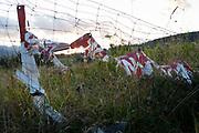 Torn sheeting on Polish agricultural land on 18th September 2019, Koscielisko, Zakopane, Malopolska, Poland.