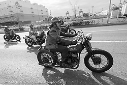 """""""Sushi"""" Atsushi Yasui leads a ride around Tokyo with friends of his Freewheelers And Company shop. Tokyo, Japan. December 8, 2015.  Photography ©2015 Michael Lichter."""
