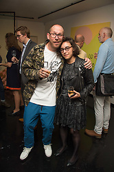 Street artist BEN EINE and MC LLAMAS at the Hix Award 2016 held at Unit London, 147 Wardour Street, Soho, London on 5th September 2016.