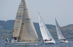 Sailing - SCOTLAND  - 27th May 2018<br /> <br /> 3rd days racing the Scottish Series 2018, organised by the  Clyde Cruising Club, with racing on Loch Fyne from 25th-28th May 2018<br /> <br /> 2336C, Shearwater, Garth and Erica Wilson, Fairlie Yacht Club, Moody 336<br /> <br /> Credit : Marc Turner<br /> <br /> Event is supported by Helly Hansen, Luddon, Silvers Marine, Tunnocks, Hempel and Argyll & Bute Council along with Bowmore, The Botanist and The Botanist