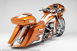 2-Sexy, a custom motorcycle built from a 2018 HD Road Glide, by Nick Beck. Photographed by Michael Lichter in Charlotte, SC, USA on 1/24/19. ©2019 Michael Lichter.
