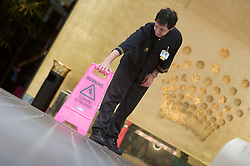 Cleaning at Crown Casino, Melbourne