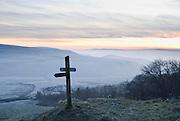 Signpost on Mam Tor, Peak District