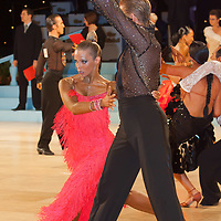 Sergey Korshunov and Michelle Hafle of USA perform their dance during the Professional Rising Stars Latin-American competition of the United Kingdom Open Dance Championships held in Bournemouth International Centre, Bournemouth, United Kingdom. Tuesday, 19. January 2010. ATTILA VOLGYI
