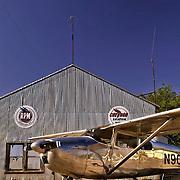 1956 Cessna 182 at Mike Miller Memorial Airport in Vale, Oregon. MR