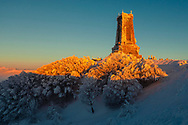 Stone monument dedicated to the batte on Shipka
