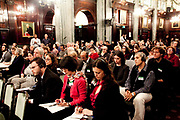 """London session of the Russel Tribunal on Palestine. """" Corporate Complicity in Israel's violations in international human rights law and international humanitarian law"""". An attentive audience."""