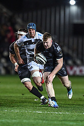 Jack Dixon of Dragons makes a break<br /> <br /> Photographer Craig Thomas/Replay Images<br /> <br /> Guinness PRO14 Round 7 - Dragons v Zebre - Saturday 30th November 2019 - Rodney Parade - Newport<br /> <br /> World Copyright © Replay Images . All rights reserved. info@replayimages.co.uk - http://replayimages.co.uk