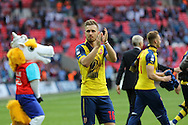 Arsenal's Aaron Ramsey during the The FA Cup match between Arsenal and Aston Villa at Wembley Stadium, London, England on 30 May 2015. Photo by Phil Duncan.