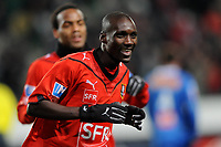FOOTBALL - FOOT - FRENCH CUP - 2009/2010 - 100109 - RENNES v CAEN -  PHOTO PASCAL ALLEE / DPPI - JOY ISMAEL BANGOURA (RENNES) AFTER HIS GOAL WITH JIMMY BRIAND