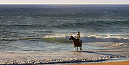 Horse riding on St Andrews beach, Mornington Peninsula.<br /> <br /> For larger JPEGs and TIFF Contact EFFECTIVE WORKING IMAGE via our contact page at : www.photography4business.com