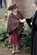 Hare Koninklijke Hoogheid Prinses Alexia, de jongste dochter van Zijne Koninklijke Hoogheid de Prins van Oranje en Hare Koninklijke Hoogheid Prinses Máxima, is zaterdag 19 november 2005 gedoopt in de Dorpskerk in Wassenaar. <br /> <br /> Baptism of Princess Alexia, the youngest daughter of Prince Willem-Alexander and Princess Máxima. Princess Alexia (born June 26, 2005) has been baptized in the church in Wassenaar. The ceremony was attended by The Dutch Royal Family and the parents of Princess Máxima.  <br /> <br /> Op de foto / On the photo:<br /> <br /> Koningin Beatrix / Queen Beatrix
