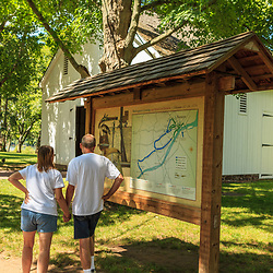 Washington Crossing, PA, USA - June 23, 2012: Visitors at the Washington Crossing Historic Park in Bucks County, PA.