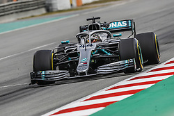 February 19, 2019 - Barcelona, Spain - 44 HAMILTON Lewis (gbr), Mercedes AMG F1 GP W10 Hybrid EQ Power+, action during Formula 1 winter tests from February 18 to 21, 2019 at Barcelona, Spain - : FIA Formula One World Championship 2019, Test in Barcelona, (Credit Image: © Hoch Zwei via ZUMA Wire)