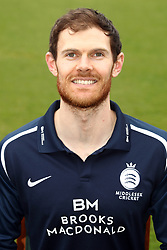 Middlesex's James Harris during the media day at Lord's Cricket Ground, London.