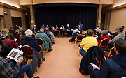 The public listening sessional the East Madison Community Center on the subject of F-35 fighter jets at Truax Field in Madison, Wisconsin, Wednesday, Feb. 28, 2018.