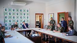 O Prefeito de Porto Alegre, Nelson Marchezan Junior em reunião com General Miotto, no Comando Militar do Sul. Foto: Jefferson Bernardes/PMPA