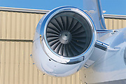 Close up of a Gulfstream IV engine