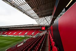 General View inside Ashton Gate - Rogan/JMP - 21/11/2020 - Ashton Gate Stadium - Bristol, England - Bristol City v Derby County - Sky Bet Championship.